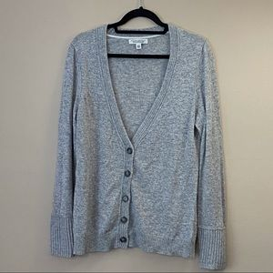 Banana Republic grey wool button-up cardigan